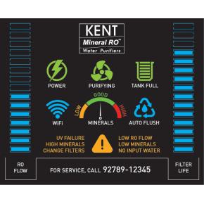 Purificator apa alcalina, Kent Grand Star, 7 trepte, cu osmoza inversa
