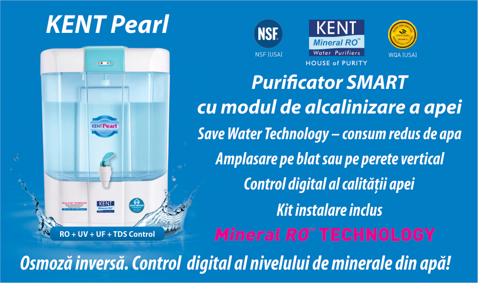 Purificator apa osmoza inversa si alcanizare - Kent Pearl